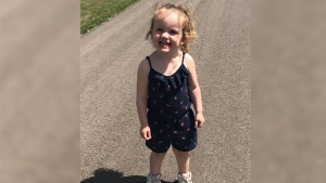 Three-year-old granddaughter Ruby pictured. (CTV)