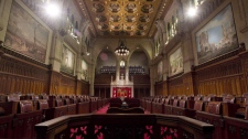 In this file image, the Senate chamber sits empty on September 12, 2014 in Ottawa. (THE CANADIAN PRESS / Adrian Wyld)