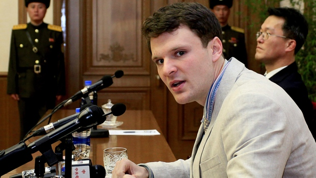Otto Warmbier in Pyongyang, North Korea in 2016