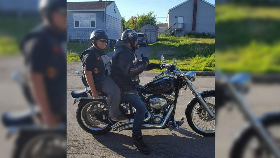 Dozens of bikers from across Nova Scotia heeded a call to action by a U.S. children's advocacy group to help Xander Rose. (Defenders Of The Children / Facebook)