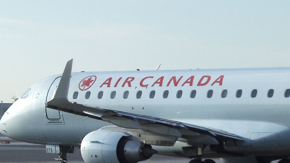 An Air Canada plane is seen in this undated file photo.
