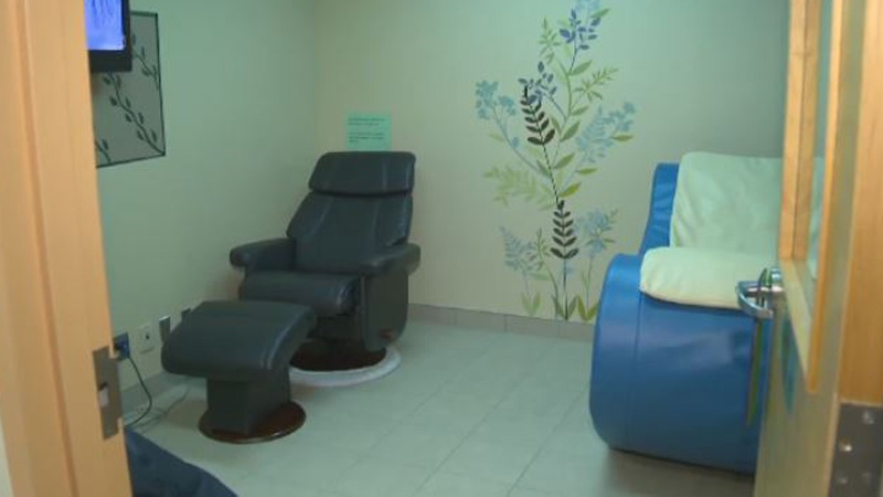 The Oasis Room is one of several treatment units at the Shepody Health Centre where inmates can go to relax and calm themselves, usually during moments of crisis.