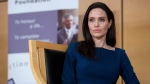 United Nations High Commissioner for Refugees (UNHCR) Goodwill Ambassador American actress Angelina Jolie, listens at the European headquarters of the United Nations in Geneva, Switzerland, March 15, 2017. (Martial Trezzini/Keystone)