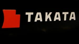 This July 6, 2016, file photo, shows the logo of Takata Corp. at an auto supply shop in Tokyo. (Shizuo Kambayashi/AP)