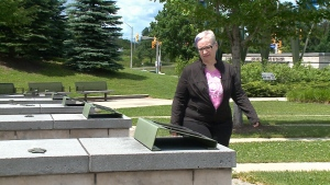 Cancer survivor Sarah Metcalfe at the Cancer Survivors' Park in Ottawa's east end on Tuesday, June 20, 2017.
