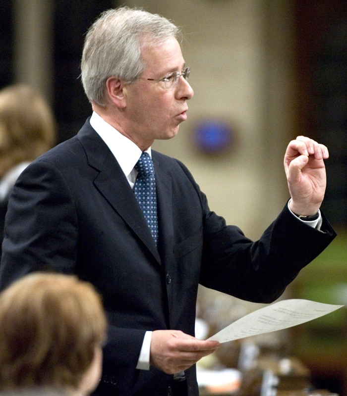 Liberal leader Stephane Dion asks a question during Question Period in the House of Commons on Parliament Hill in Ottawa Thursday, June 14, 2007.(CP / Tom Hanson)