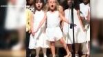 Girl steals show at pre-kindergarten graduation