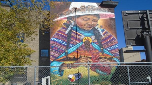 Mending mural