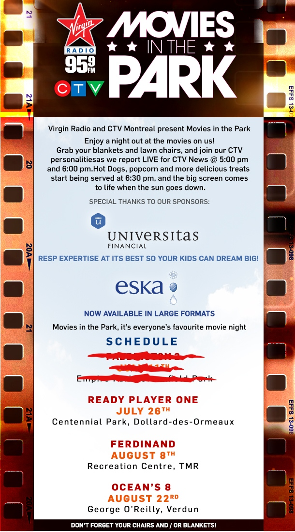 movies in the park schedule 2017