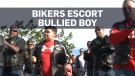 Hundreds of bikers escort bullied boy to school