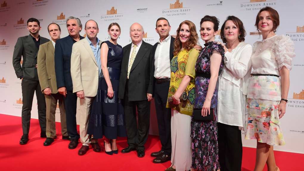 The cast and producers of Downton Abbey