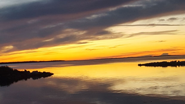 One of the many beautiful evenings in Chemawawin. Photo by Rio Packo.