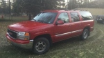 The man's body was found in a 2000 red GMC Yukon XL, similar to the vehicle in this photo issued by Squamish RCMP.