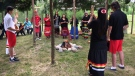 The event was held as part of National Indigenous Day celebrations. (Josh Crabb/CTV Winnipeg)