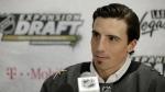 Vegas Golden Knights' Marc-Andre Fleury speaks with the media in Las Vegas on Wednesday, June 21, 2017. (AP / John Locher)