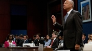 Former Homeland Security Secretary Jeh Johnson is sworn in to the House Intelligence Committee task force on Capitol Hill in Washington, Wednesday, June 21, 2017, as part of the Russiainvestigation. (AP Photo/Andrew Harnik)