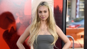 In this Tuesday, April 18, 2017, file photo, Corinne Olympios arrives at the Los Angeles premiere of 'Unforgettable' at the TCL Chinese Theatre. (Photo by Jordan Strauss/Invision/AP, File)