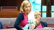 Extended: Senator breastfeeds during speech