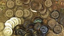 Bitcoin tokens are shown in Sandy, Utah on April 3, 2013. (AP/Rick Bowmer)