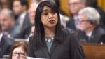 Government House Leader Bardish Chagger answers a question during Question Period in the House of Commons in Ottawa, Tuesday, April 4, 2017. THE CANADIAN PRESS/Sean Kilpatrick