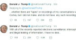 CTV News Channel: Trump tweets he has no tapes