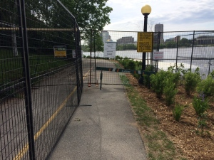 The Ottawa River pathway behind Parliament Hill won't reopen until spring 2018 due to flood damage. (Peter Szperling/CTV)