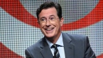 In this Aug. 10, 2015 file photo, Stephen Colbert participates in the 'The Late Show with Stephen Colbert' segment of the CBS Summer TCA Tour in Beverly Hills, Calif. (Photo by Richard Shotwell / Invision / AP, File)