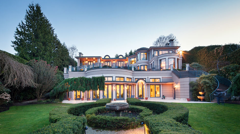 The 21,977-square-foot Belmont Estate, which sits on 1.28 acres of land among Vancouver's priciest properties in Point Grey, was just listed for $63 million. (Sotheby's International Realty Canada).