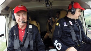 Bob spent much of Steve's childhood founding and running a mining company. They pair did not spend much time together. But a shared passion for aviation and a twin-engine helicopter with a 700-kilometre range has made them closer than ever.
