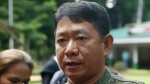 Philippine Armed Forces chief and administrator of Martial Law Gen. Eduardo Ano talks to reporters during his visit to a military camp on the outskirts of Iligan city in southern Philippines on May 26, 2017. (AP / Bullit Marquez)