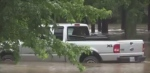 Large amounts of rain causes flooding in Harriston, Ont., on June 23, 2017. (Scott Miller / CTV London)