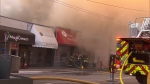 Fire tears through several Kerrisdale businesses