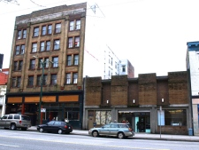 Three buildings from 108 E. Hastings Street, right, to 112 E. Hastings are being filled with more than 40 artists, after local developer David Duprey leased the abandoned buildings.