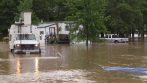 Heavy rainfall causes flooding in midwestern Ontario on June 23, 2017. (Scott Miller / CTV London)