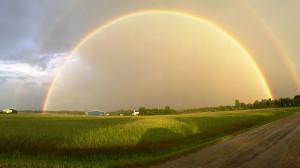 Most amazing double rainbow I have ever seen. Photo by Samantha.