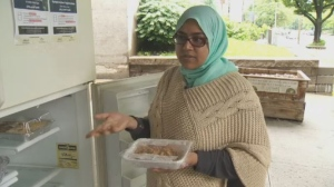Free for users, the fridge is donation based, and food has been flying off the shelves.