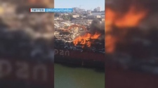 extended barge fire
