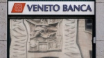 A view of a ' Veneto Banca' bank branch in in Milan, Italy, Tuesday, Aug. 2, 2016. (AP Photo/Antonio Calanni)