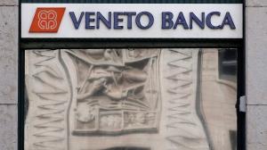 A view of a ' Veneto Banca' bank branch in in Milan, Italy, Tuesday, Aug. 2, 2016. (AP Photo/Antonio Calanni)