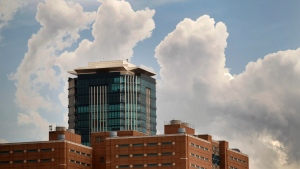 FILE -- Clouds form over downtown Fort Worth, Texas, on Thursday, Aug. 11, 2011. (AP Photo/Star-Telegram, Rodger Mallison)