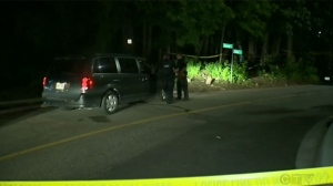 Police said it happened around 9 p.m. in a wooded area on Simcoe Street across from the Bridges shelter.