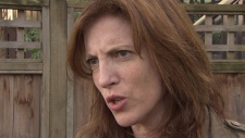 Gwen Barlee, former national policy director for The Wilderness Committee, died on Thursday after battling cancer. She's pictured in this CTV file photo from April 9, 2012 (CTV)