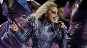 FILE - In this Feb. 5, 2017 file photo, singer Lady Gaga performs during the halftime show of the NFL Super Bowl 51 football game between the New England Patriots and the Atlanta Falcons, in Houston.  (AP Photo/Darron Cummings, File)