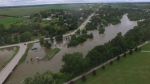 MyNews contributor Brian James sent in this drone photo of flood waters in Glen Allen, Ont. (MyNews / Brian James).