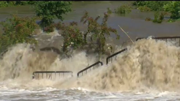Officials believe it will take several days for the water to come down.