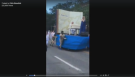 The video featuring people of colour pushing a float has been shared over 6,000 times, and has a running thread of nearly 500 hundred comments—many of them livid. (CTV Montreal)