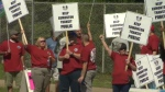 Bus drivers protesting the proposed changes to Edmonton Transit on Saturday, June 24, 2017.