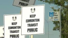 Bus drivers rally against proposed ETS changes