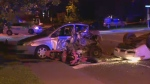 Ste-Catherine police chase crash
