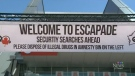 A banner above the entrance to Escapade Music Festival. (CTV Ottawa)